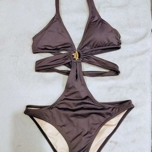 Victoria's Secret Purple One Piece Cutout Swimsuit